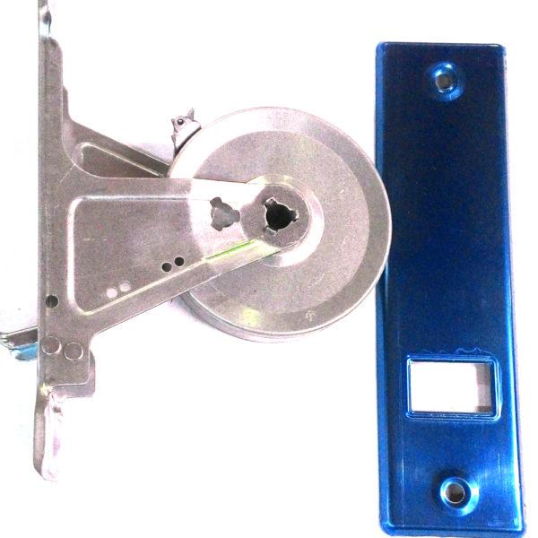 Avvolgitore + placca cromata per interasse distanza tra i due fori 165 mm fabbricatapparelle.it